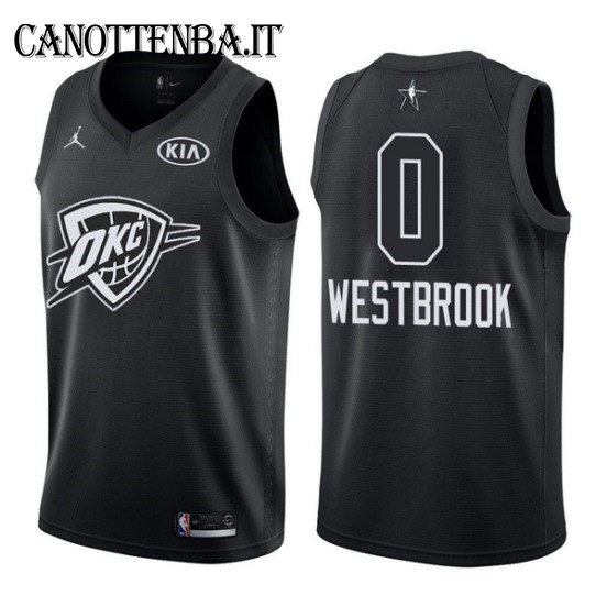 Maglia NBA 2018 All Star NO.0 Russell Westbrook Nero