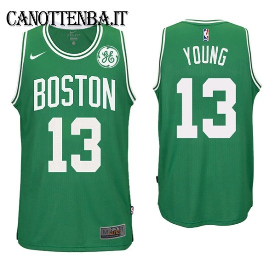Maglia NBA Boston Celtics NO.13 James Young Verde 2017-18