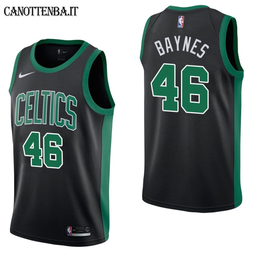 Maglia NBA Boston Celtics NO.46 Aron Baynes Nero Statement 2017-18