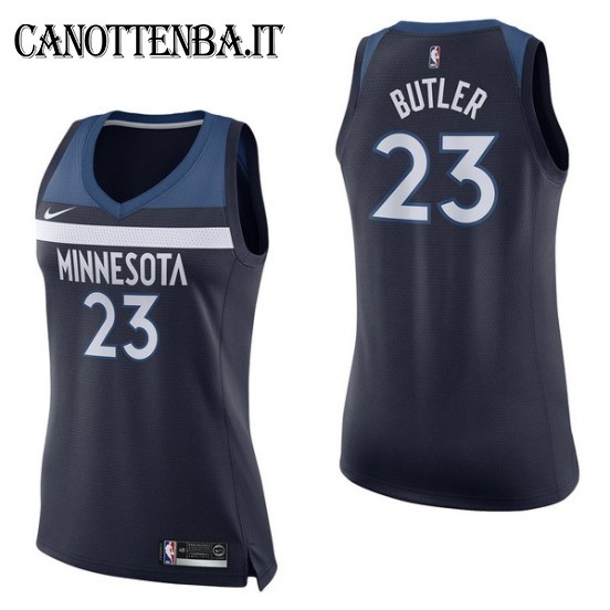 Maglia NBA Donna Minnesota Timberwolves NO.23 Jimmy Butler Marino Icon 2017-18