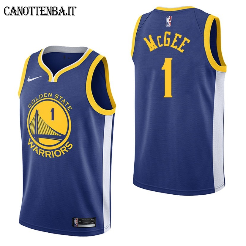 Maglia NBA Golden State Warriors NO.1 JaVale McGee Azul Icon 2017-18