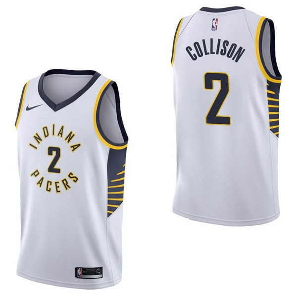 Maglia NBA Indiana Pacers NO.2 Darren Collison Bianco Association 2017-18