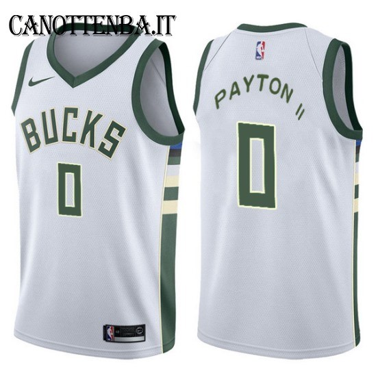Maglia NBA Milwaukee Bucks NO.0 Gary Payton II Bianco Association 2017-18