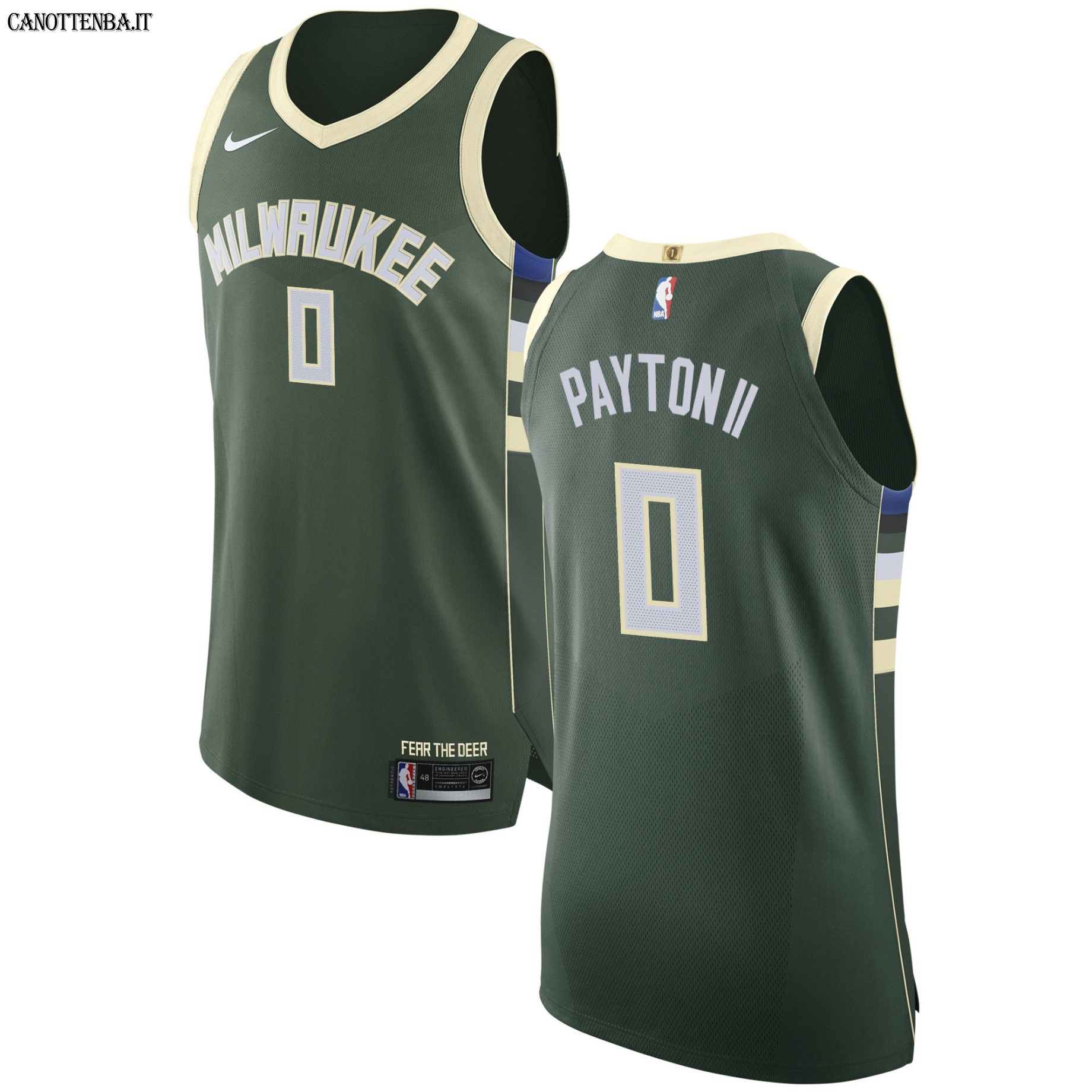 Maglia NBA Milwaukee Bucks NO.0 Gary Payton II Verde Icon 2017-18