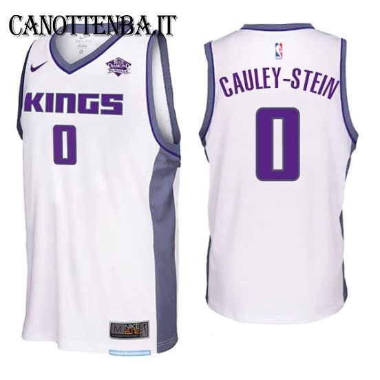 Maglia NBA Sacramento Kings NO.0 Willie Cauley Stein Bianco 2017-18