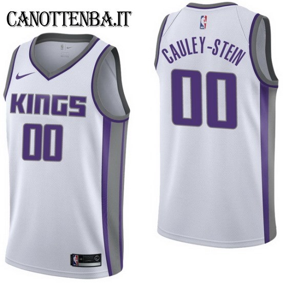 Maglia NBA Sacramento Kings NO.0 Willie Cauley Stein Bianco Association 2017-18