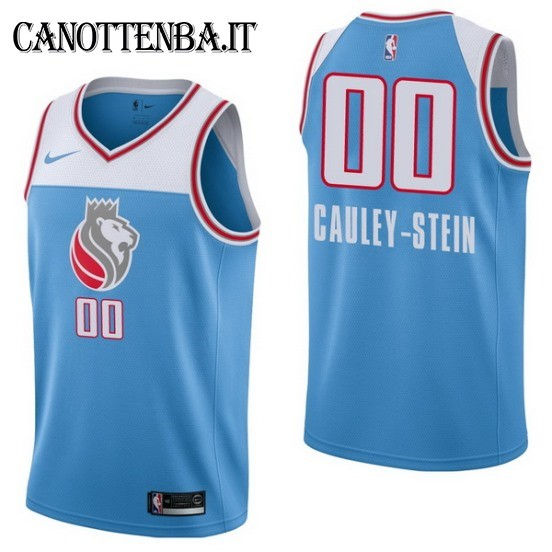 Maglia NBA Sacramento Kings NO.0 Willie Cauley Stein Nike Azul Città 2017-18