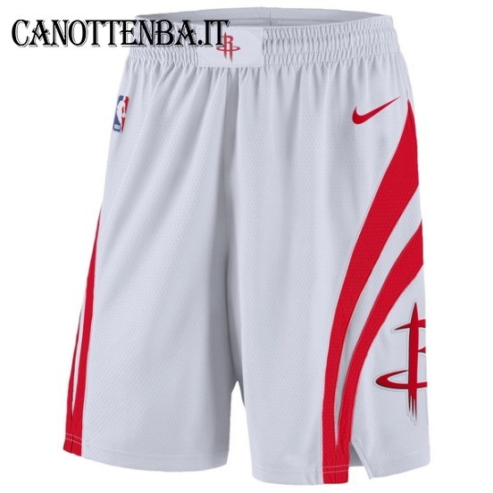 Pantaloni Basket Houston Rockets Nike Bianco
