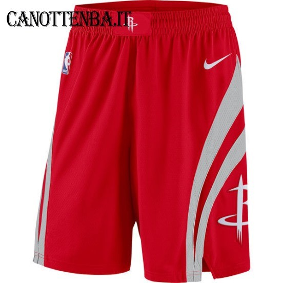Pantaloni Basket Houston Rockets Nike Rosso