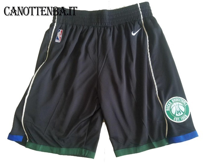 Pantaloni Basket Milwaukee Bucks Nike Nero