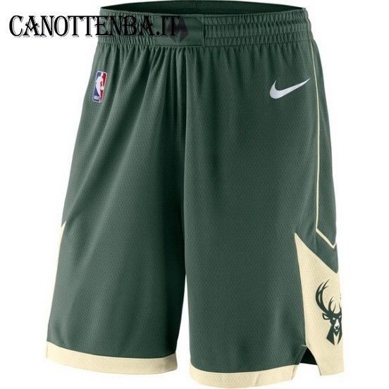 Pantaloni Basket Milwaukee Bucks Nike Verde