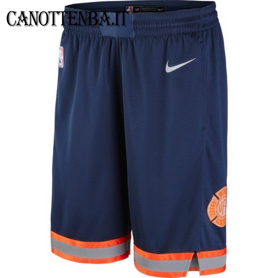Pantaloni Basket New York Knicks Nike Marino 2018