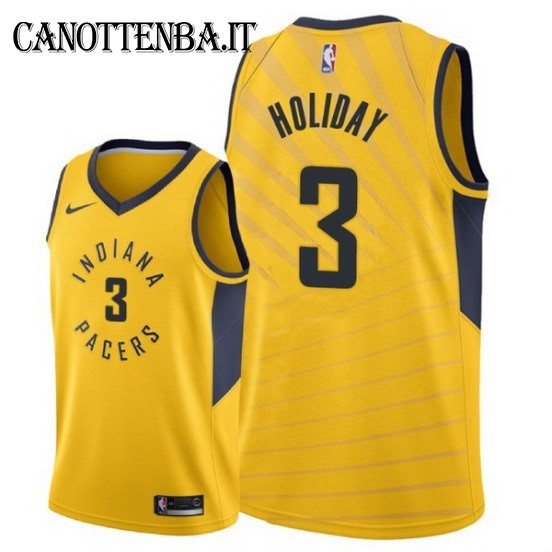 Maglia NBA Indiana Pacers NO.3 Aaron Holiday Giallo Statement 2018