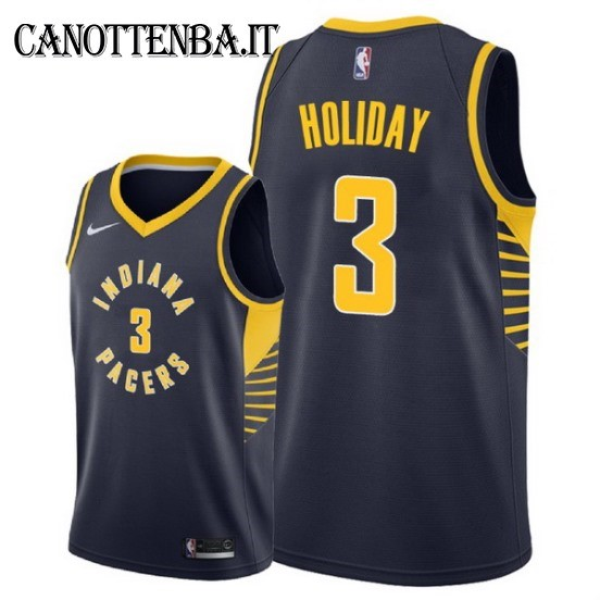 Maglia NBA Indiana Pacers NO.3 Aaron Holiday Marino Icon 2018