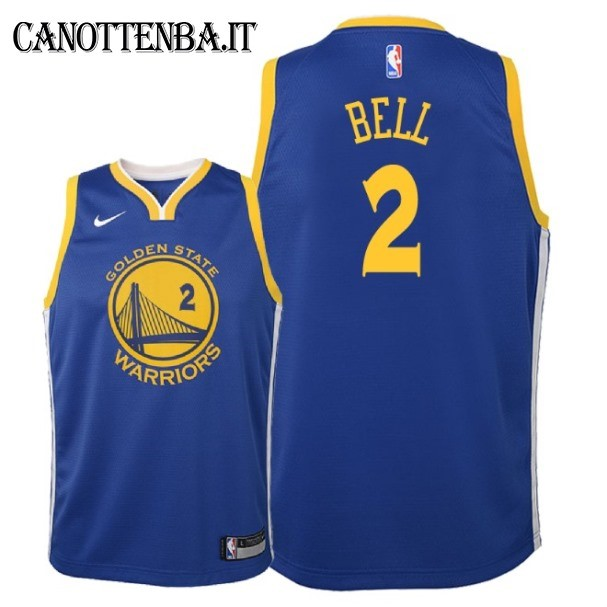 Maglia NBA Bambino Golden State Warriors NO.2 Jordan Bell Azul Icon 2018