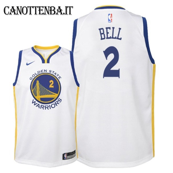 Maglia NBA Bambino Golden State Warriors NO.2 Jordan Bell Bianco Association 2018