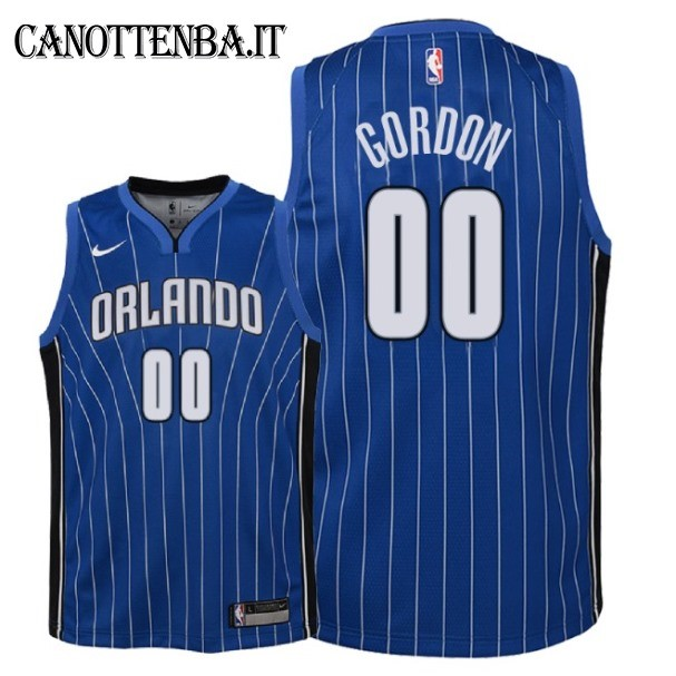 Maglia NBA Bambino Orlando Magic NO.0 Aaron Gordon Azul Icon 2018