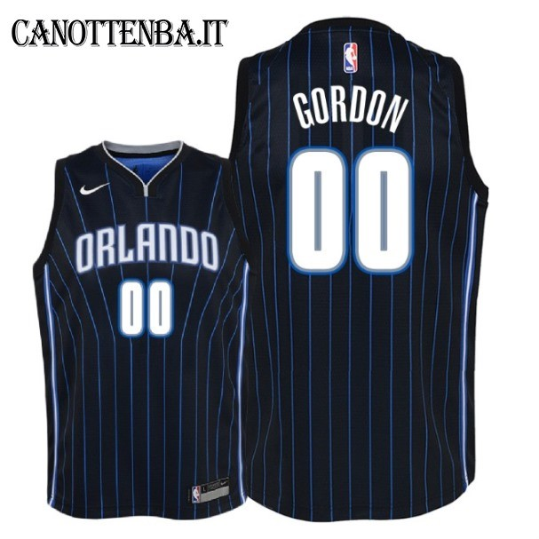 Maglia NBA Bambino Orlando Magic NO.0 Aaron Gordon Nero Statement 2018