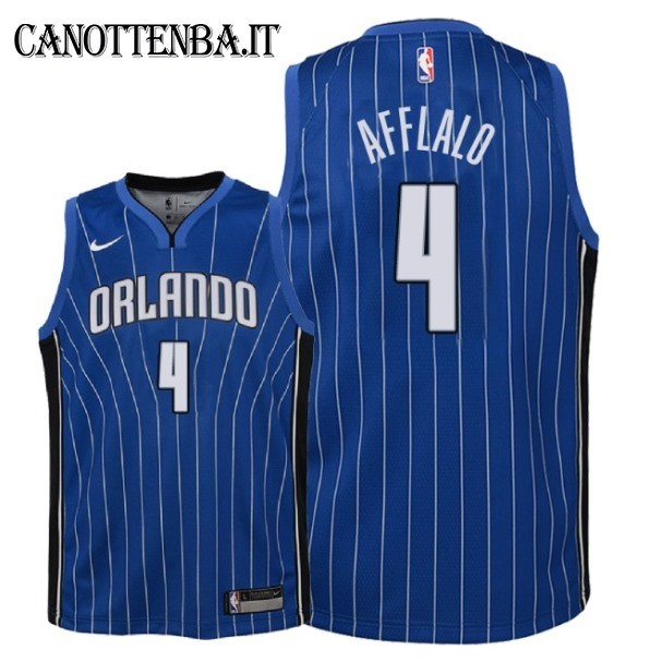 Maglia NBA Bambino Orlando Magic NO.4 Arron Afflalo Azul Icon 2018