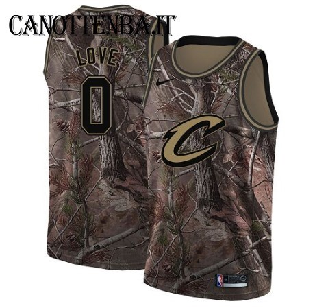 Maglia NBA Cleveland Cavaliers NO.0 Kevin Love Camo Swingman Realtree Collection 2018