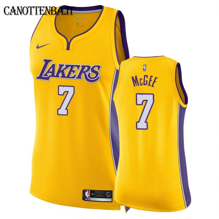 Maglia NBA Donna Los Angeles Lakers NO.7 JaVale McGee Giallo Icon 2018