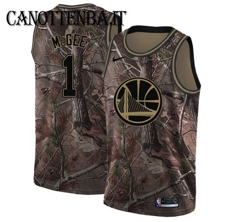 Maglia NBA Golden State Warriors NO.1 JaVale McGee Camo Swingman Realtree Collection 2018
