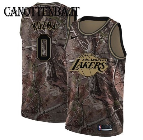 Maglia NBA Los Angeles Lakers NO.0 Kyle Kuzma Camo Swingman Realtree Collection 2018