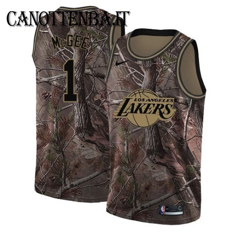 Maglia NBA Los Angeles Lakers NO.1 JaVale McGee Camo Swingman Realtree Collection 2018