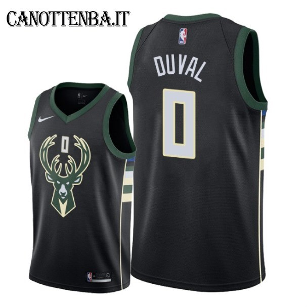 Maglia NBA Nike Milwaukee Bucks NO.0 Trevon Duval Nero Statement 2018