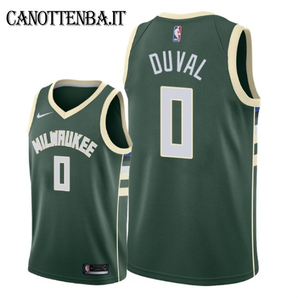 Maglia NBA Nike Milwaukee Bucks NO.0 Trevon Duval Verde Icon 2018