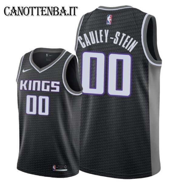 Maglia NBA Nike Sacramento Kings NO.0 Willie Cauley Stein Nero Statement 2018