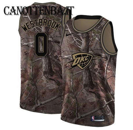Maglia NBA Oklahoma City Thunder NO.0 Russell Westbrook Camo Swingman Realtree Collection 2018