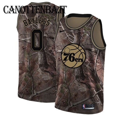 Maglia NBA Philadelphia Sixers NO.0 Jerryd Bayless Camo Swingman Realtree Collection 2018