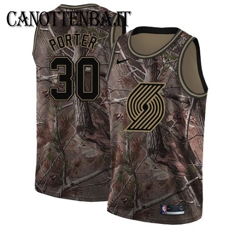 Maglia NBA Portland Trail Blazers NO.30 Terry Porter Camo Swingman Realtree Collection 2018