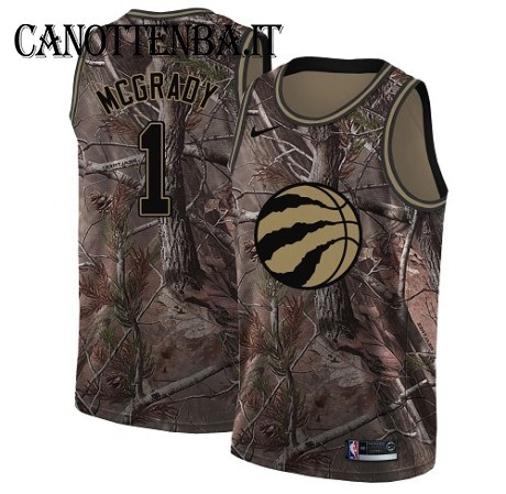 Maglia NBA Toronto Raptors NO.1 Tracy Mcgrady Camo Swingman Realtree Collection 2018