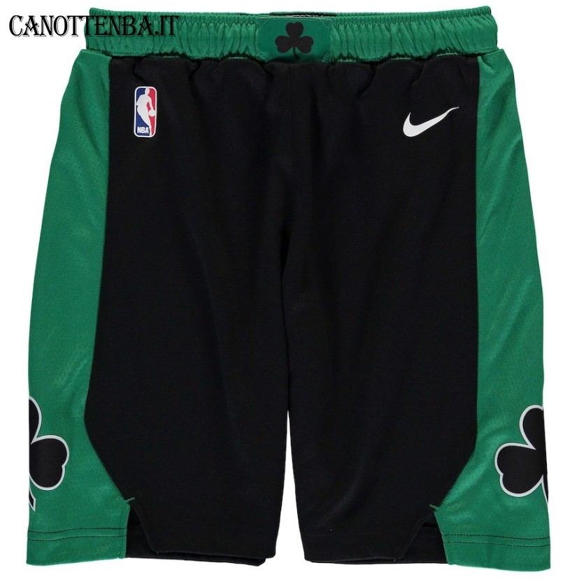 Pantaloni Basket Bambino Boston Celtics Nike Nero 2018