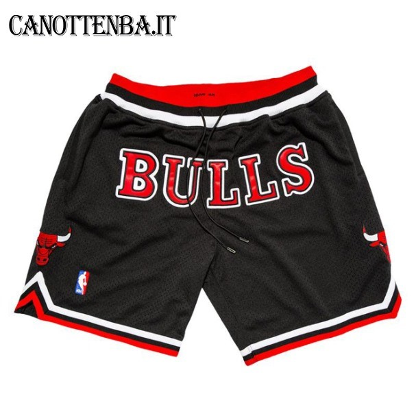 Pantaloni Basket Chicago Bulls Nike Retro Nero 2018