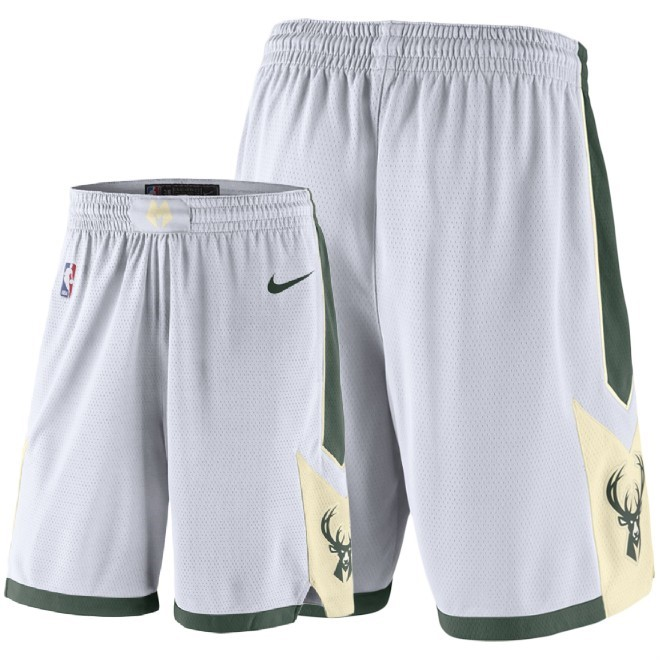 Pantaloni Basket Milwaukee Bucks Nike Bianco 2018