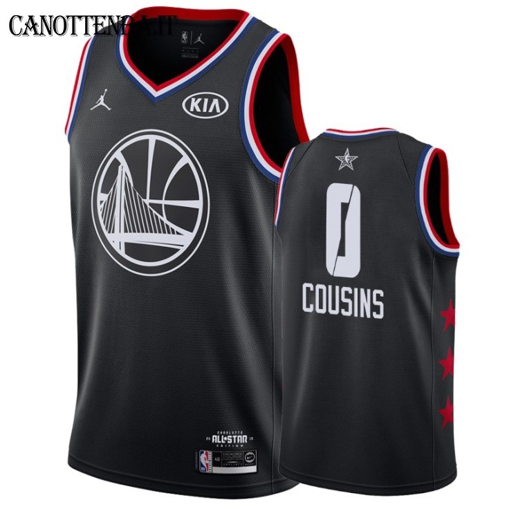 Maglia NBA 2019 All Star NO.0 DeMarcus Cousins Nero