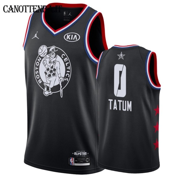 Maglia NBA 2019 All Star NO.0 Jayson Tatum Nero