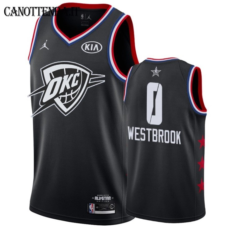 Maglia NBA 2019 All Star NO.0 Russell Westbrook Nero