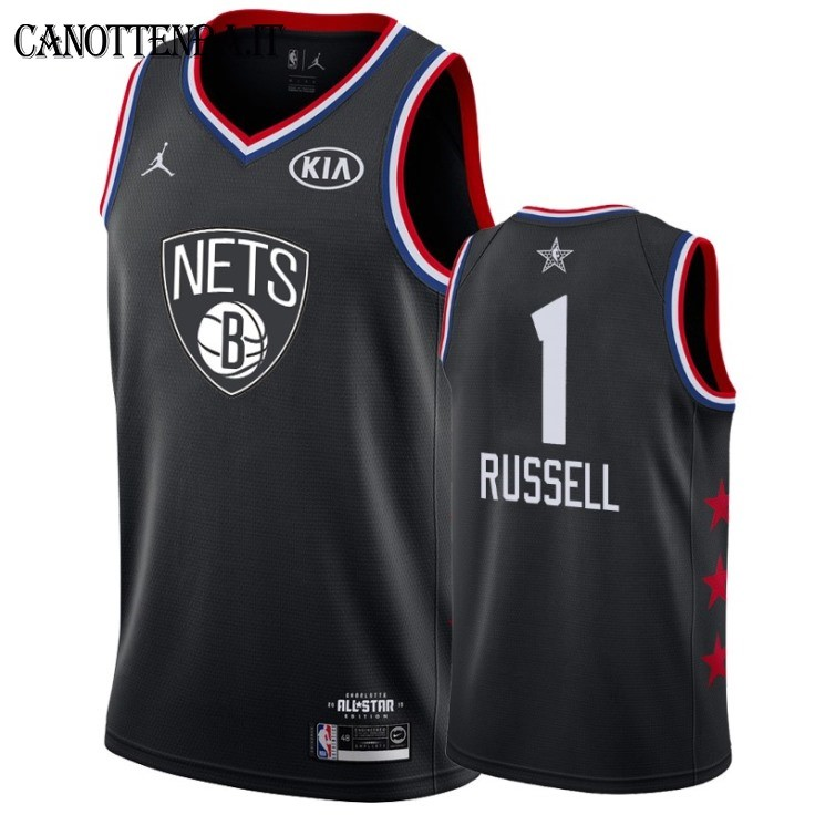 Maglia NBA 2019 All Star NO.1 DAngelo Russell Nero