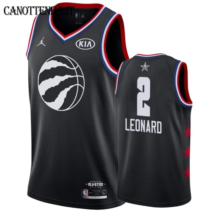 Maglia NBA 2019 All Star NO.2 Kawhi Leonard Nero