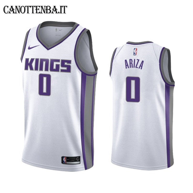 Maglia NBA Nike Sacramento Kings NO.0 Trevor Ariza Bianco Association 2019-20