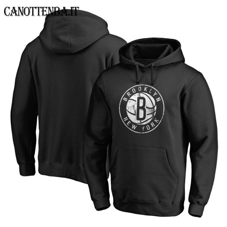 Felpe Con Cappuccio NBA Brooklyn Nets Nero