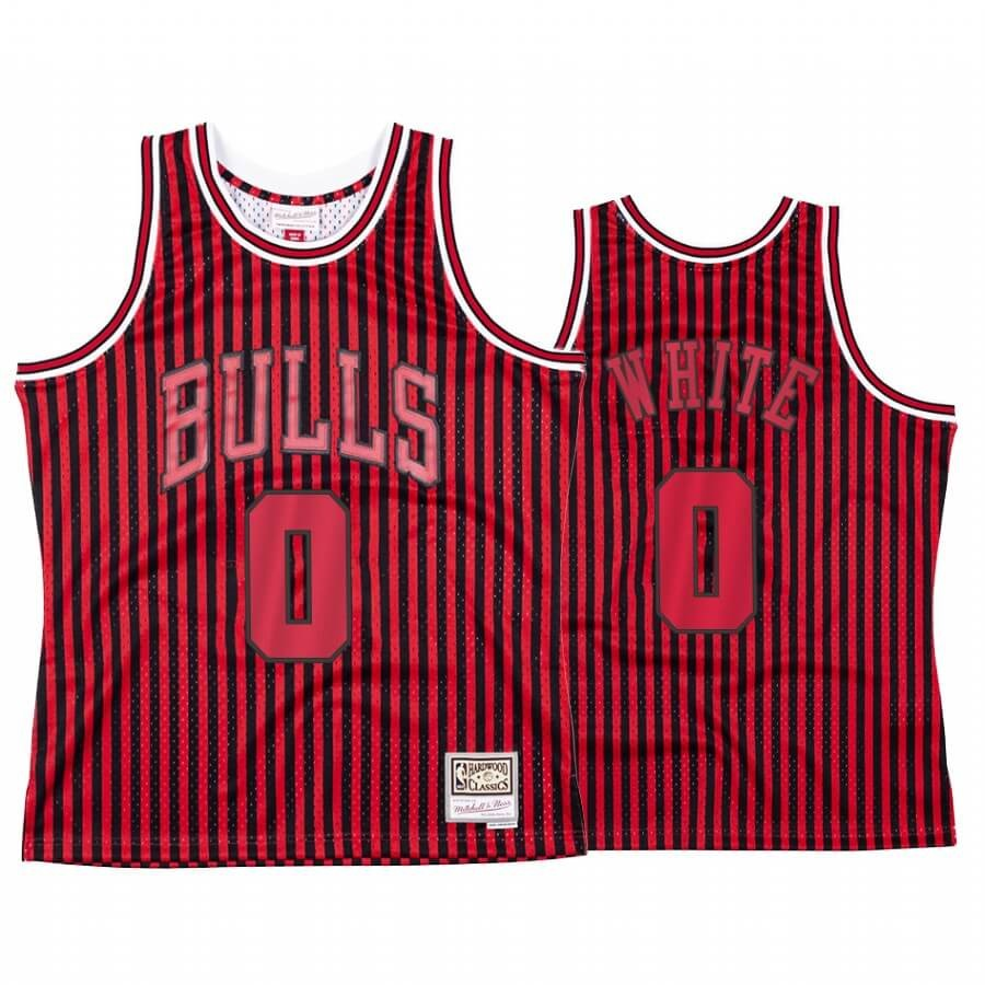 Maglia NBA Chicago Bulls Independence Day NO.0 Coby White Rosso Hardwood Classics