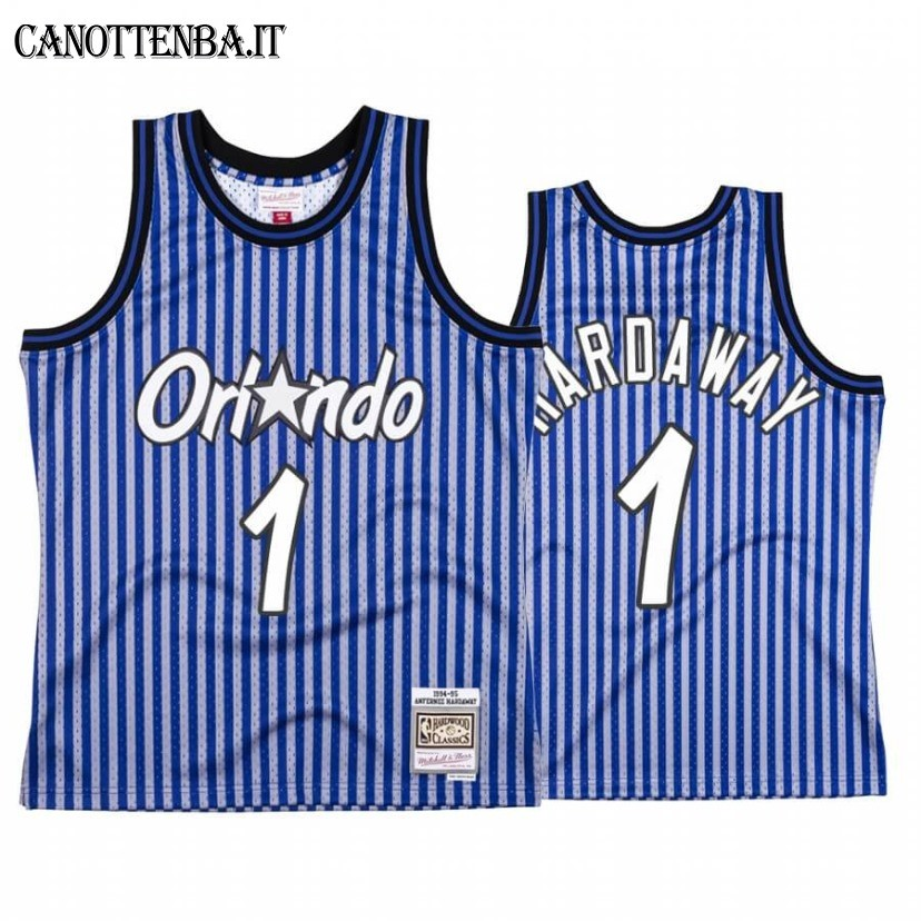 Maglia NBA Orlando Magic Independence Day NO.1 Penny Hardaway Blu Hardwood Classics