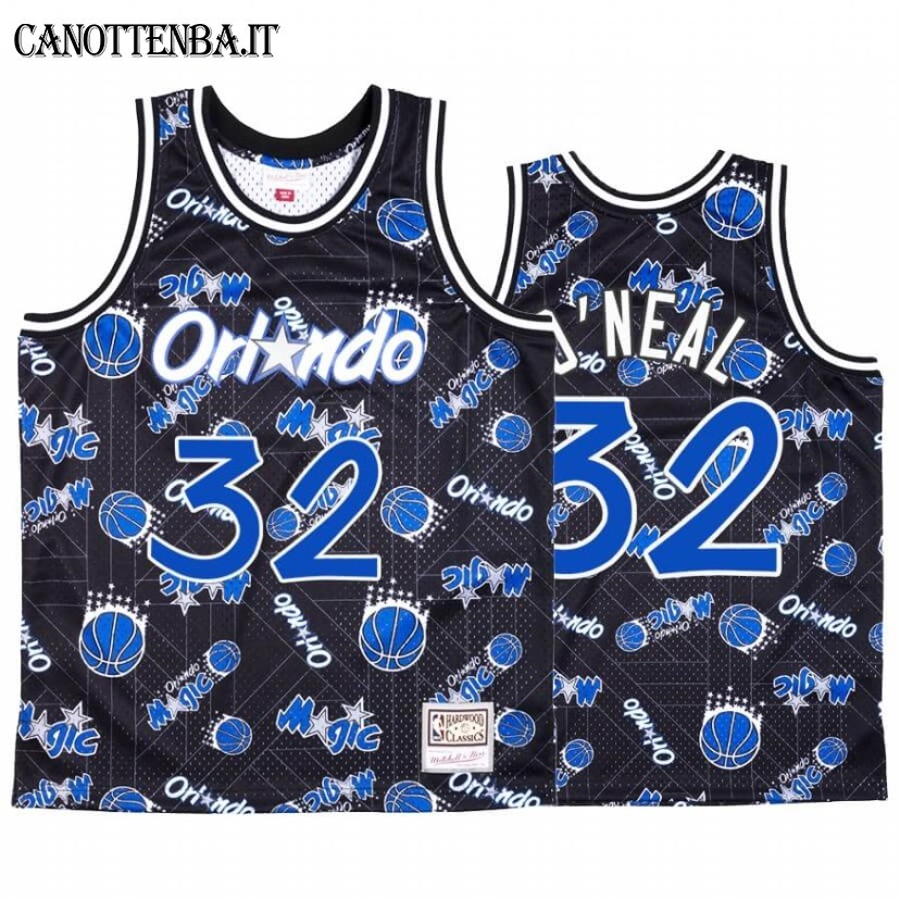 Maglia NBA Orlando Magic Tear Up Pack NO.32 Shaquille O'Neal Blu Hardwood Classics