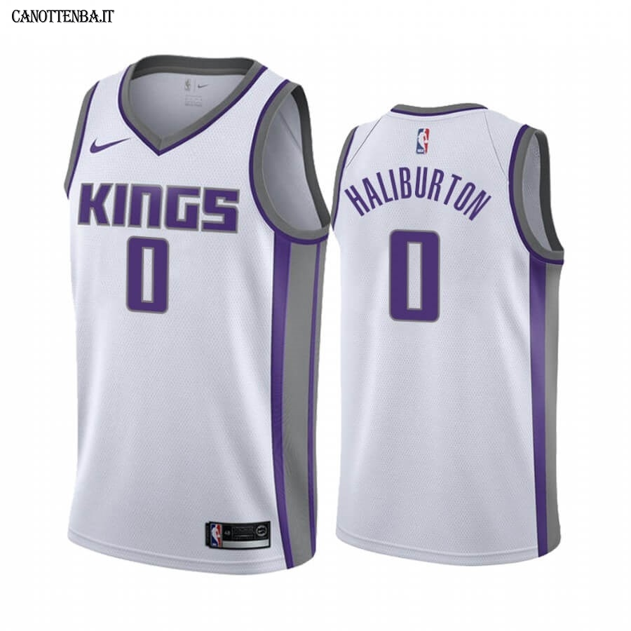 Maglia NBA Nike Sacramento Kings NO.0 Tyrese Haliburton Bianco Association 2020-21