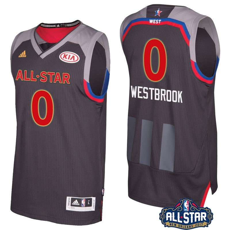 Maglia NBA 2017 All Star NO.0 Russell Westbrook Carbone